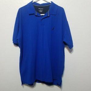 Men's Nautica blue performance deck polo shirt xl